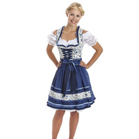 "Mini Dirndl ""Blue Roses"""